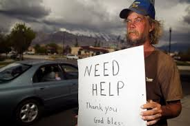 This is not the panhandler I saw. He's just one of many images floating around the internet.