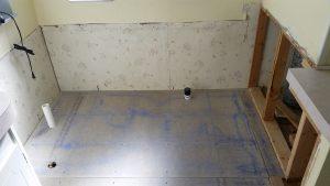 Bathroom remodel sub-floor